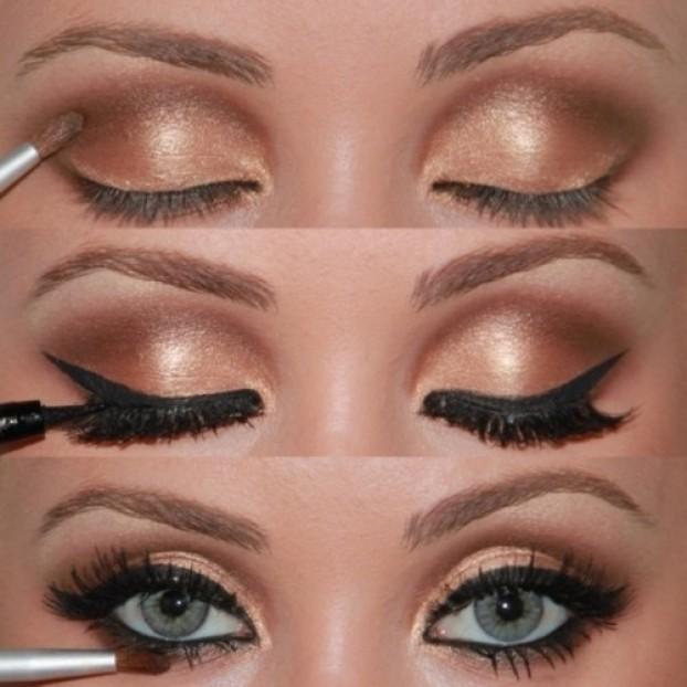 Renkli göze makyaj