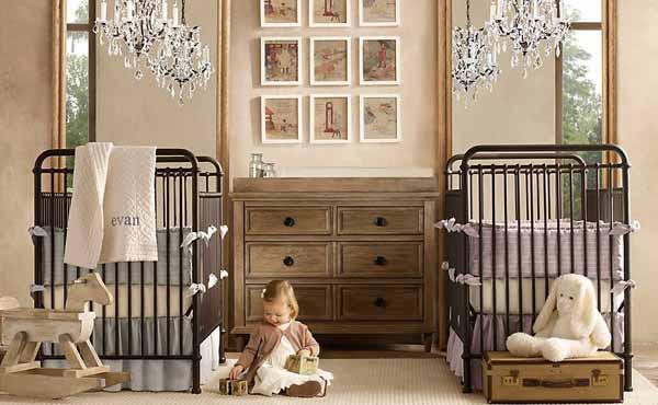İkiz Bebek Odaları Ahşap Mobilya