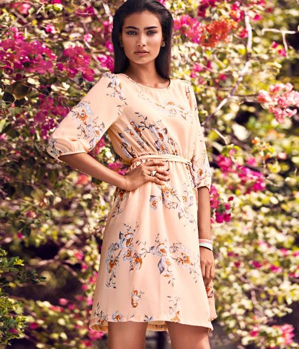 floral kıyafet kombini
