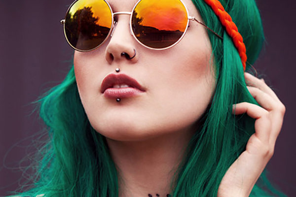 yeşil saç